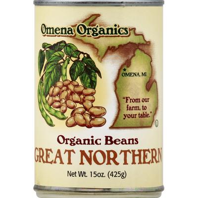 Omena Organics Beans, Organic, Great Northern