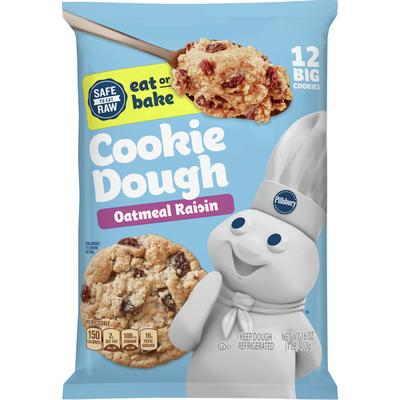 Pillsbury Ready To Bake Oatmeal Raisin Cookies