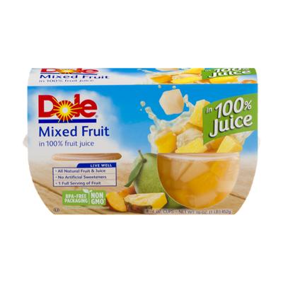 Dole Mixed Fruit, in 100% Fruit Juice