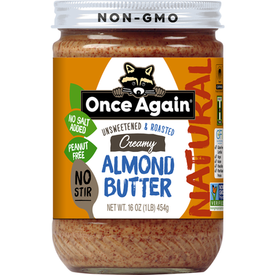 Once Again Almond Butter, Creamy, Unsweetened & Roasted