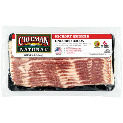 Coleman Uncured Hickory Smoked Bacon