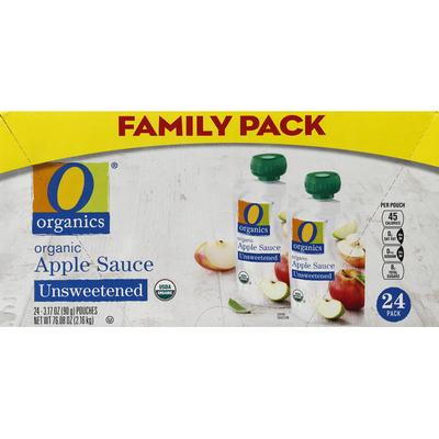 O Organics Apple Sauce, Organic, Unsweetened, Family Pack