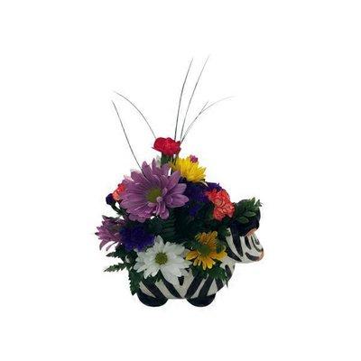 Cut Flower Animal Arrangement