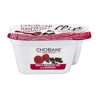 Chobani Low-Fat Greek Yogurt Flip Raspberry Choco Fix