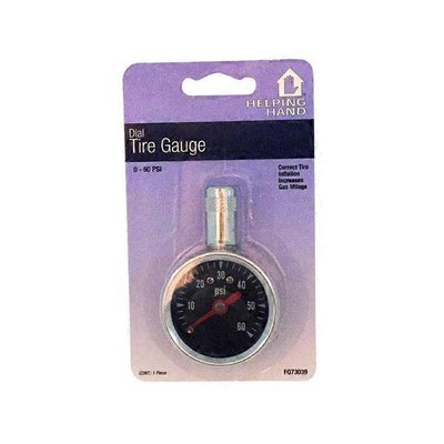 Helping Hand Dial 0-60 PSI Tire Gauge