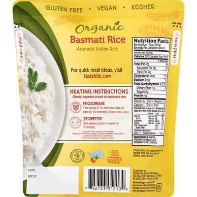 Tasty Bite Organic Basmati Rice