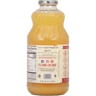 Lakewood Juice, Organic, Pure Pineapple