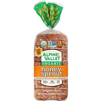 Alpine Valley Organic Honey Sprout Bread