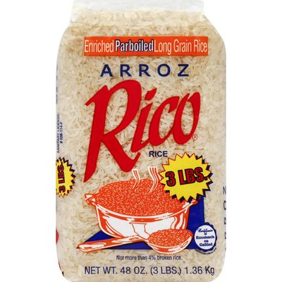 Rico's Rice, Parboiled, Enriched Long Grain