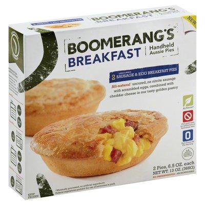 Boomerang's Breakfast Pies, Uncured Sausage & Egg