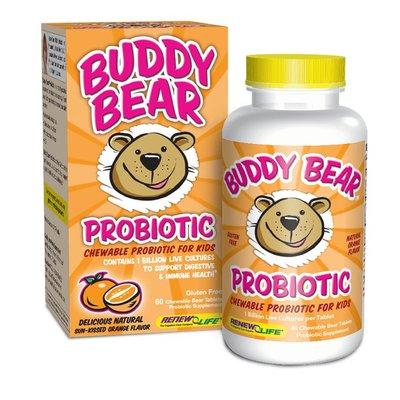 Renew Life Probiotic, for Kids, Chewable Bear Tablets, Delicious Natural Sun-Kissed Orange Flavor