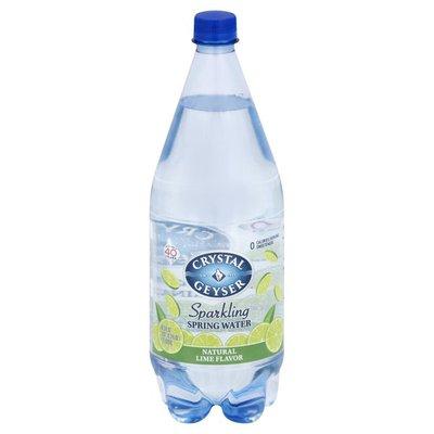 Crystal Geyser Alpine Spring Water Natural Lime Flavor Sparkling Mineral Water