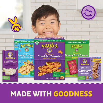 Annie's Variety Pack, Cheddar Bunnies, Bunny Grahams, Cheddar Squares, 12 Count