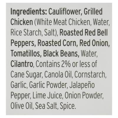 Red's Riced Cauliflower, Gluten Free, Chicken Cilantro and Lime