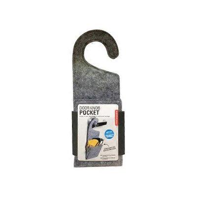 Kikkerland Design Gray Felt Door Knob Pocket