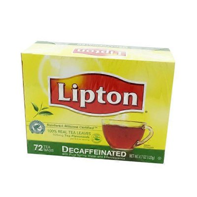 Lipton Decaffeinated Tea Bags With Pure Spring Water and Effervescence
