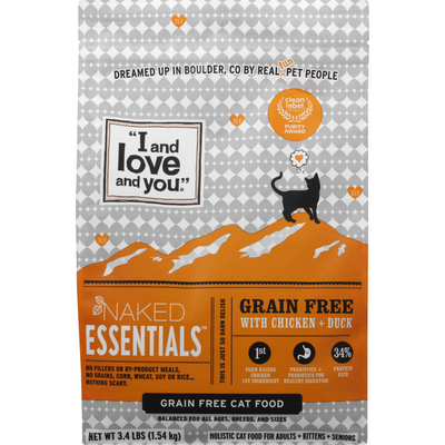 """""""I and love and you"""" Naked Essentials - Dry Cat Food - Chicken & Duck"""