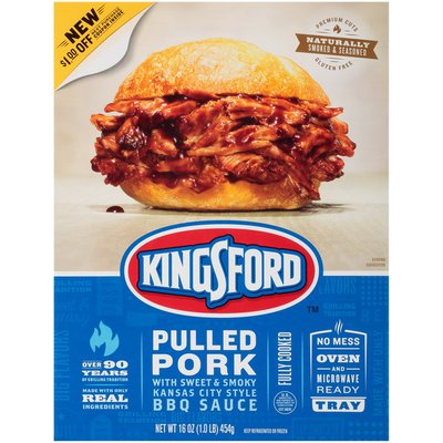 Kingsford Pulled Pork with Sweet & Smoky Kansas City Style BBQ Sauce