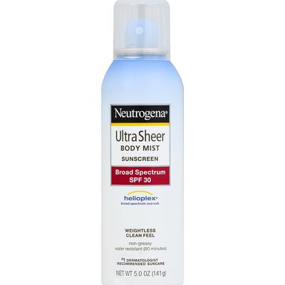 Neutrogena® Ultra Sheer Body Mist Sunscreen Broad Spectrum SPF 30