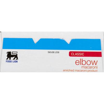 Food Lion Macaroni, Elbow, Classic, Box
