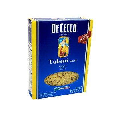 De Cecco Tubetti No. 62