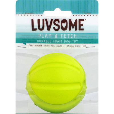 Luvsome Dog Toy, Durable Foam, Play & Fetch