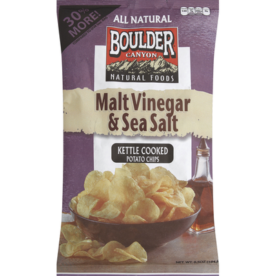 Boulder Canyon Kettle Cooked Potato Chips Malt Vinegar & Sea Salt