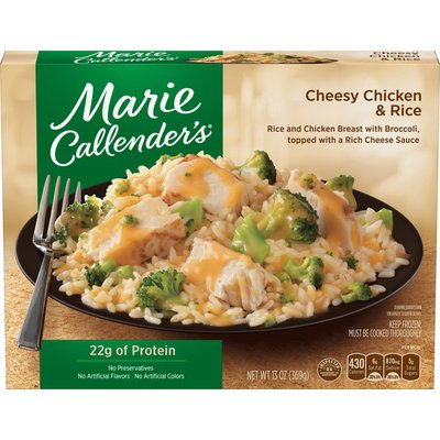 Marie Callender's Cheesy Chicken And Rice Dinners