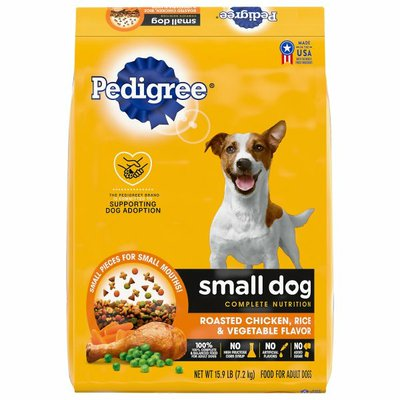 Pedigree Small Dog Complete Nutrition Adult Dry Dog Food Roasted Chicken, Rice & Vegetable Flavor