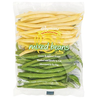 Wegmans Food You Feel Good About Cleaned and Cut Triple Washed Mixed Beans