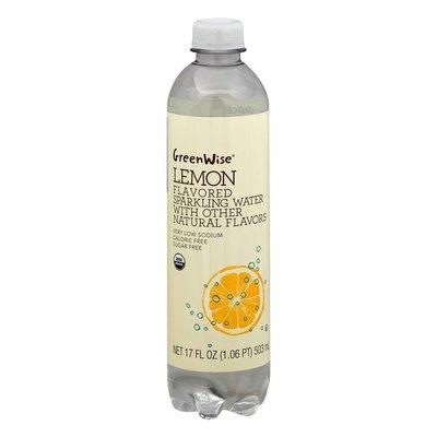 GreenWise Sparkling Water, Organic, Lemon