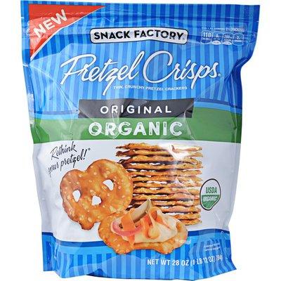Snack Factory Pretzel Crisps Organic, Thin, Crunchy Pretzel Crackers