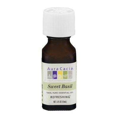 Aura Cacia Pure Aromatherapy 100% Pure Essential Oil Sweet Basil