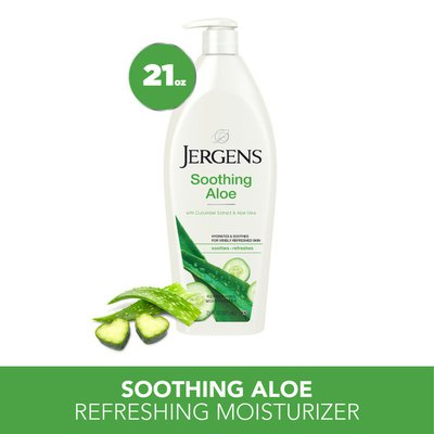 Jergens Soothing Aloe Hand and Body Lotion, Dermatologist Tested Moisturizer