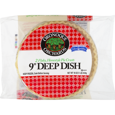 """Oronoque Orchards 9"""" Deep Dish Flaky Homestyle Pie Crusts"""