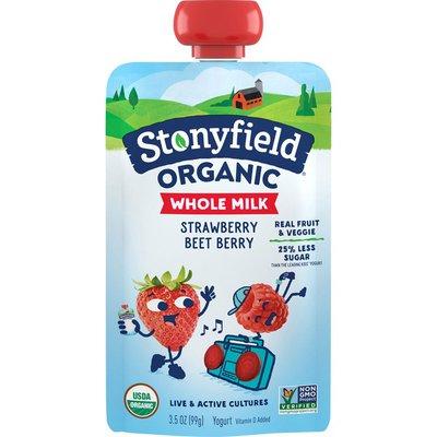 Stonyfield Organic Whole Milk Strawberry Beet Berry Yogurt