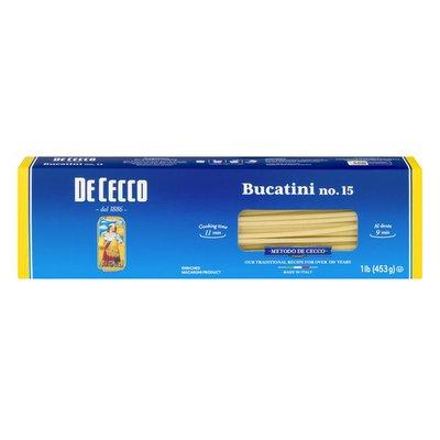 De Cecco Pasta, Bucatini No.15, Slow Dried