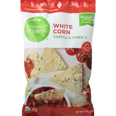 Simple Truth Organic Tortilla Chips, White Corn