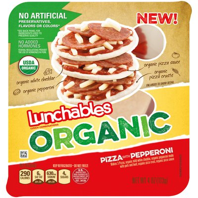Lunchables Organic Peperoni Pizza Convenience Meal