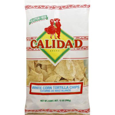 Calidad Tortilla Chips, White Corn