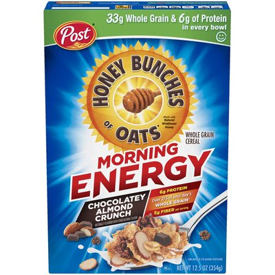 Honey Bunches of Oats Morning Energy Chocolatey Almond Crunch Cereal