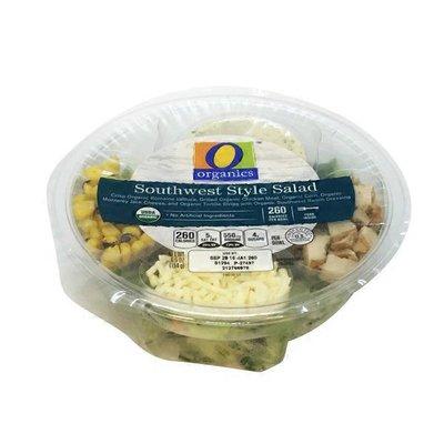 O Organics Organic Southwestern Style Salad Organic Romaine Lettuce, Organic Corn, Organic Black Beans, Organic Monterey Jack Cheese, Organic Tortilla Chips And Organic Carrots With Organic Southwest Ranch Dressing