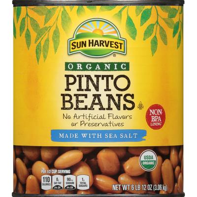 Sun Harvest Pinto Beans, Organic, Sea Salt