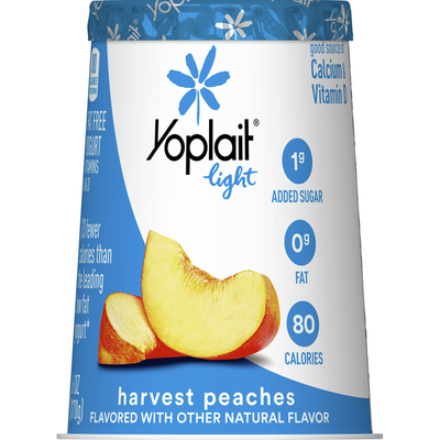 Yoplait Light Yogurt, Fat Free Yogurt, Harvest Peach