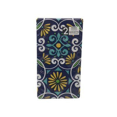 Sensations Napkins, 2 Sided, Moroccan Tiles, 2 Ply