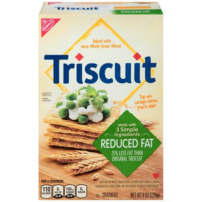 Triscuit Baked Whole Grain Wheat Reduced Fat Crackers