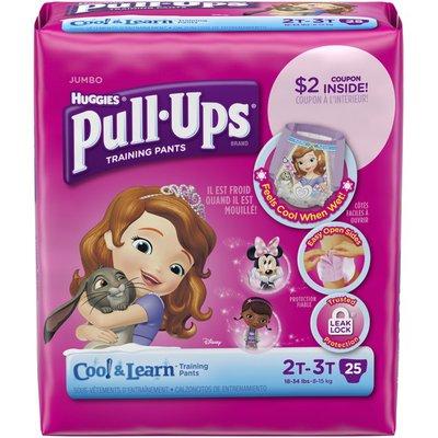 Pull-Ups Cool & Learn 2T-3T Girls Training Pants