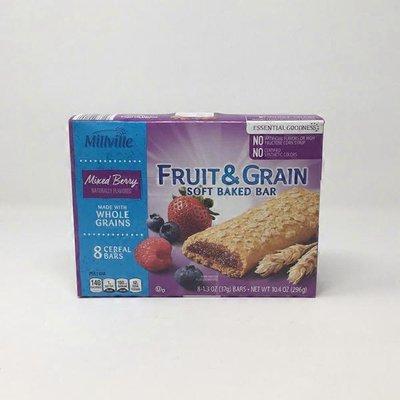 Millville Mixed Berry Fruit & Grain Cereal Bar