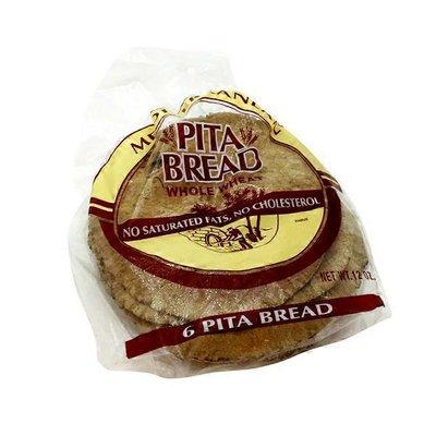 Mediterranean Snacks Pita Bread, Whole Wheat