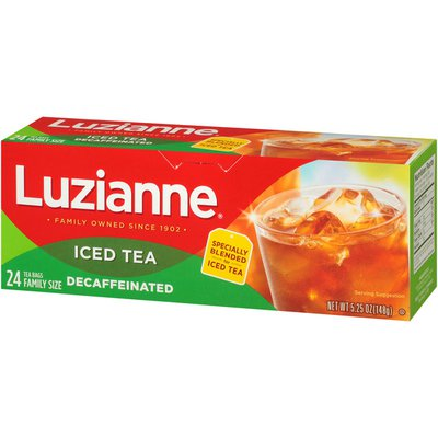 Luzianne Decaffeinated Iced Tea Special Blend, Family Size Tea Bags